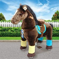 Ponycycle Luxe donkerbruin met witte bles (Groot formaat)