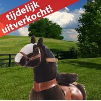 Ponycycle donkerbruin met witte bles (Klein formaat)