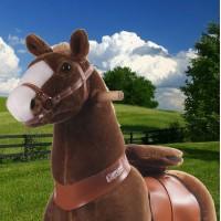 Ponycycle lichtbruin met witte bles (Groot formaat)