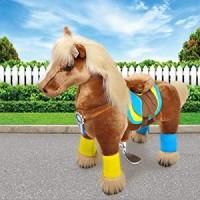 Ponycycle Luxe lichtbruin met witte bles (Groot formaat)